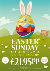 Book Now for Easter Sunday Carvery at Belfast Loughshore1st April