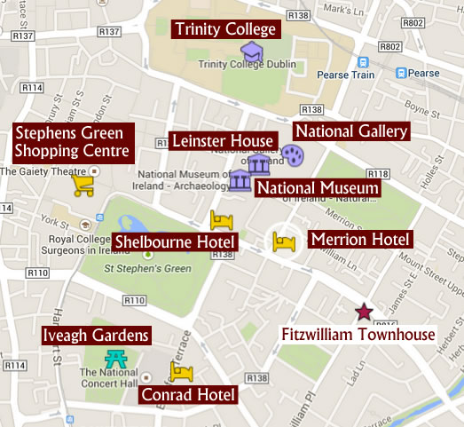Dublin Attractions near Fitzwilliam Townhouse
