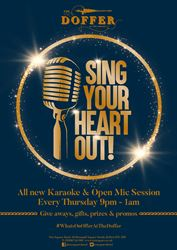 Sing Your Heart Out with Karaoke and Open Mic in The Doffer Bar Every Thursday