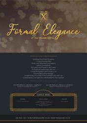 The beautiful Formal Elegance  package now available at Ten Square